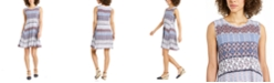 Style & Co Sleeveless Printed A-Line Dress, Created for Macy's
